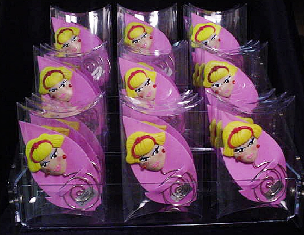 Polymer Clay and Silver Nickel Wire 'Jeannie' Bookmarks in Display